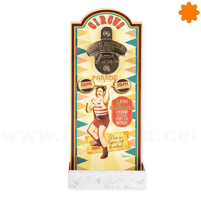Abridor de pared decorado con motivos festivos Circus Parade