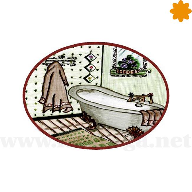 Aviso original para la puerta de un baño