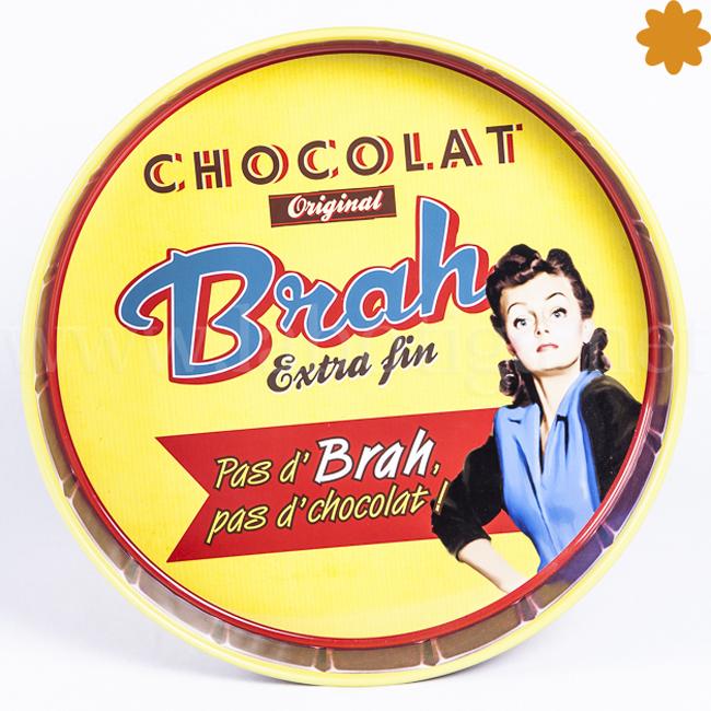 Bandeja metálica Chocolat original Brah extra fin