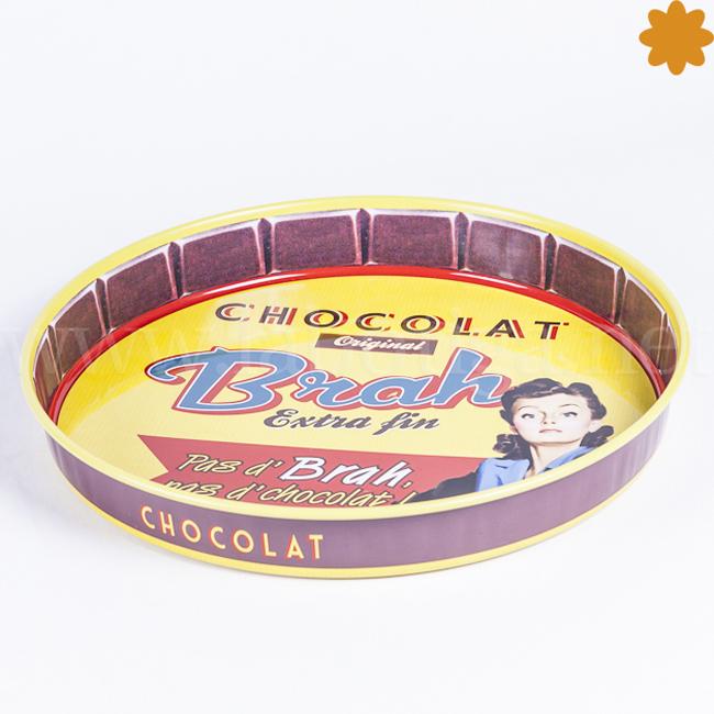 Bandeja de metal Chocolat Brah