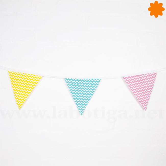 Banderolas de colores para decorar en fiestas y eventos