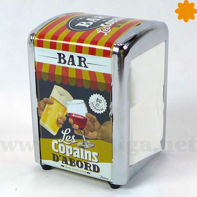 Bar Les Copains d'Abord servilletero retro ideal para bares