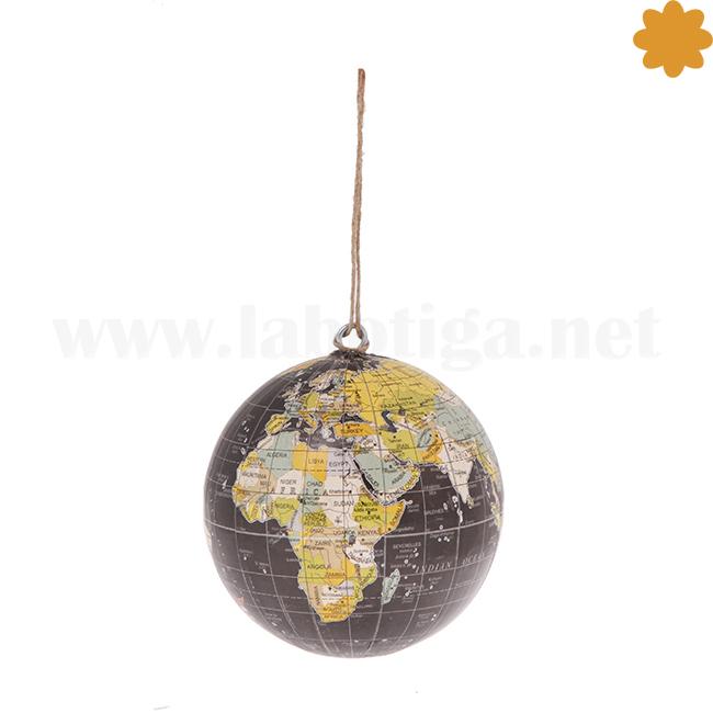 Bola del Mundo pequeña color oscuro