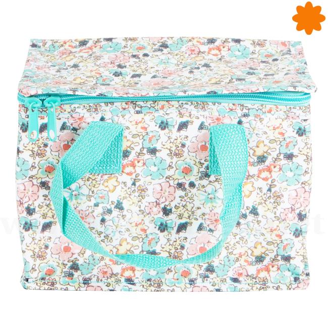 Bolsa para picnic con estampado floral en color azul