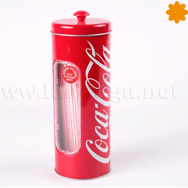 Bote Coca cola para pajas