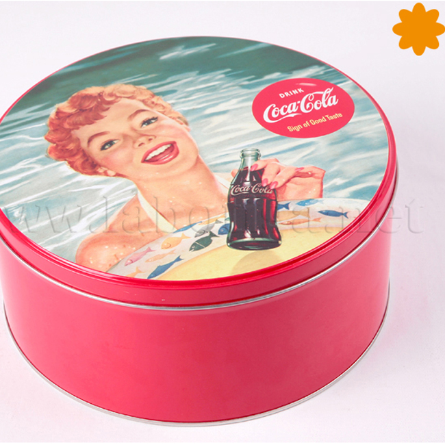 Caja coca cola redonda sing of good taste