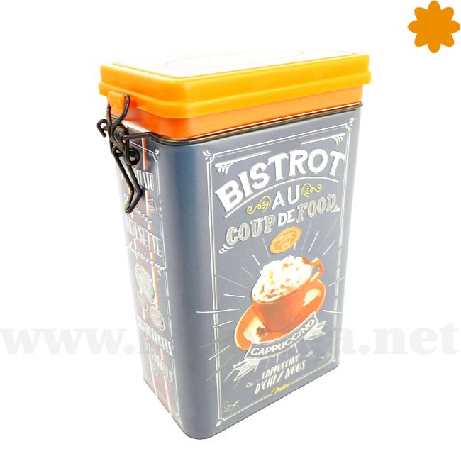 caja cuadrada de metal ideal para guardar galletas Coup
