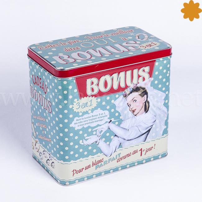 Caja de metal retro Bonus 3 en 1