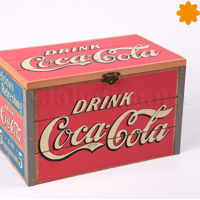 caja de madera Drink Coca Col