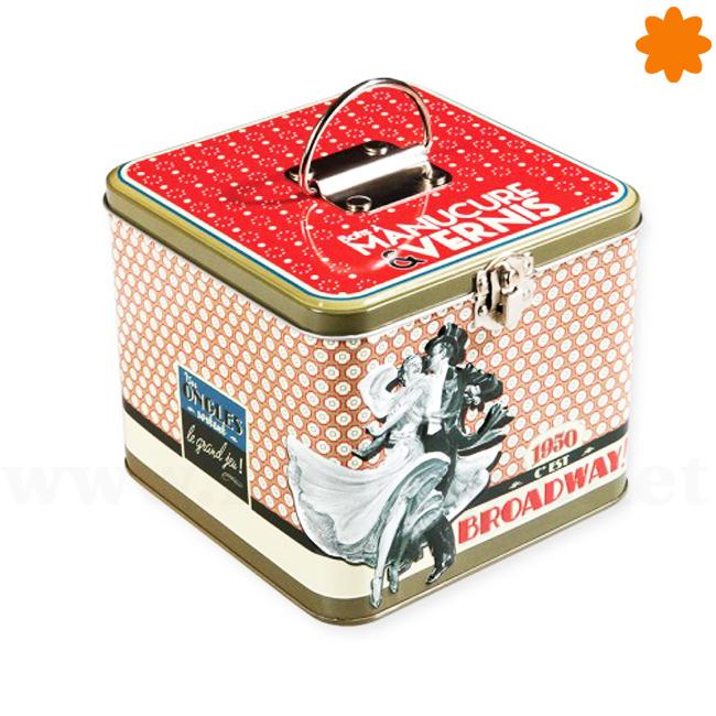 Caja metálica para guardar objetos personales y de valor