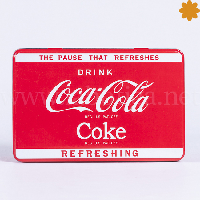 Caja metálica rectangular Coca Cola the pause that refreshes