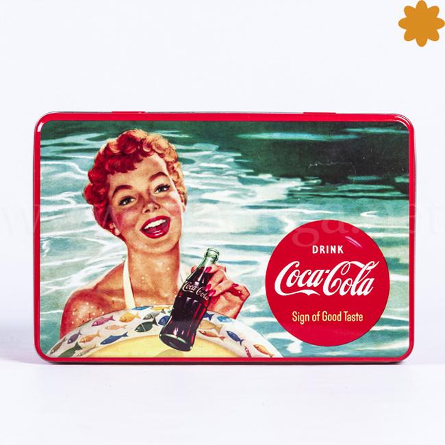 Caja metálica rectangularDrinkCoca Cola sing of good taste
