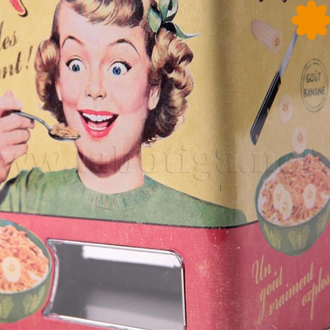 Caja de metal para guardar cereales