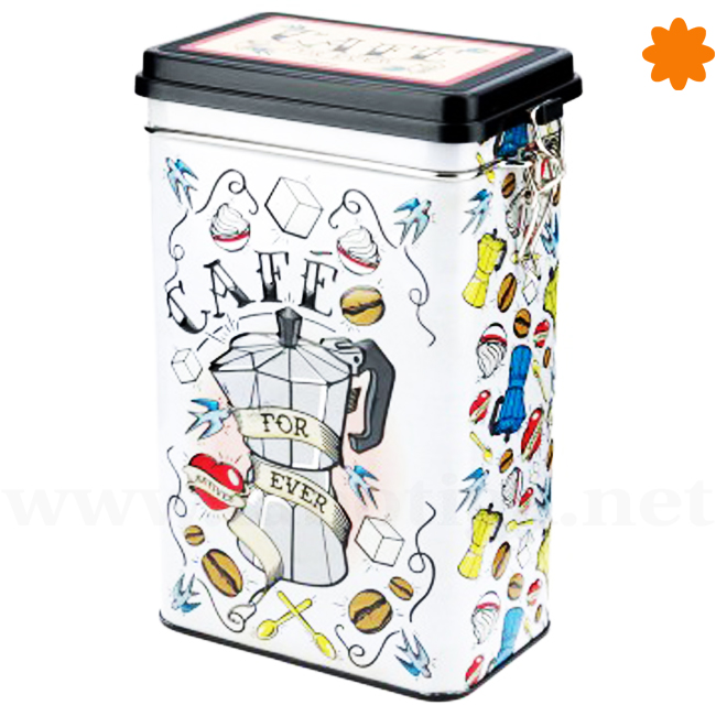 Caja metálica para guardar café de la colección For Ever