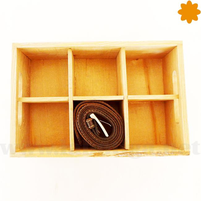 Caja de madera para cinturones