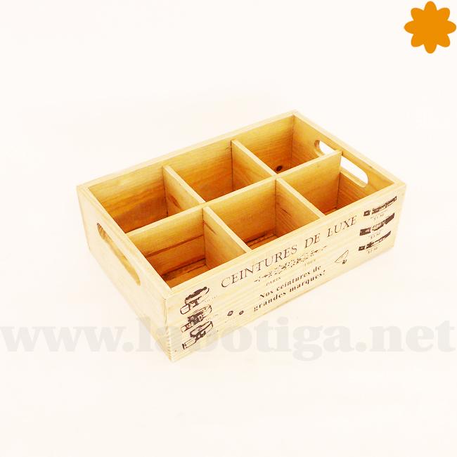 Caja para almacenar cinturones realizada en madera color negro