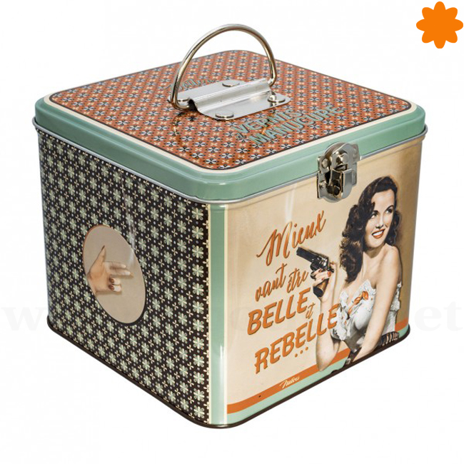 Caja para guardar objetos de belleza en el cuarto de baño