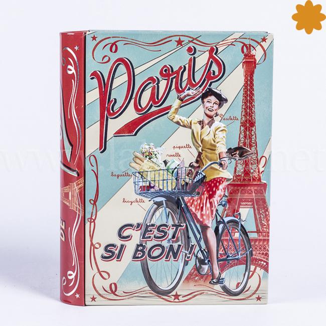 Caja para guardar recetas Libro Paris c'est si bon