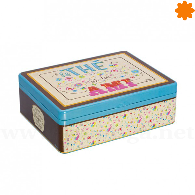 Caja para guardar té de colores con seis apartados