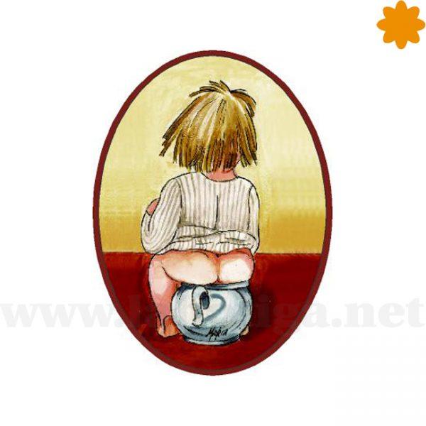 Cartel de Puerta para el Cuarto de Baño de una Niña Chiquilla
