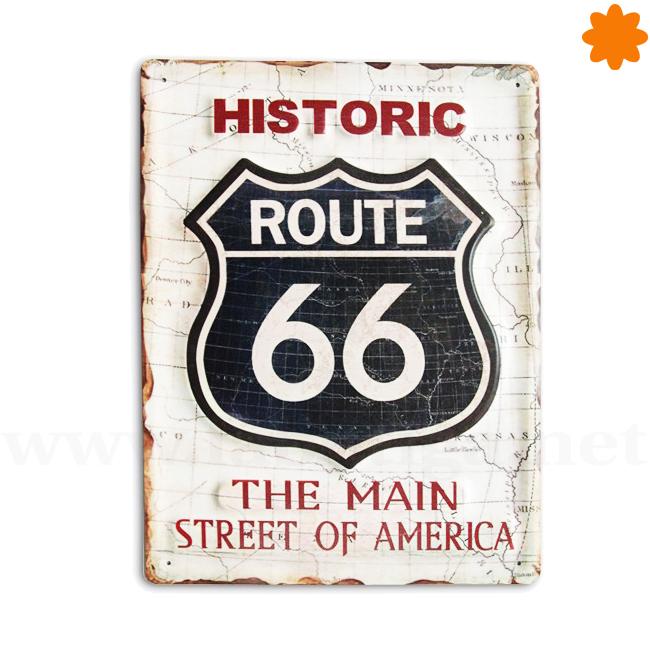 Cartel para colgar de la Ruta 66 ideal para regalar a un viajero