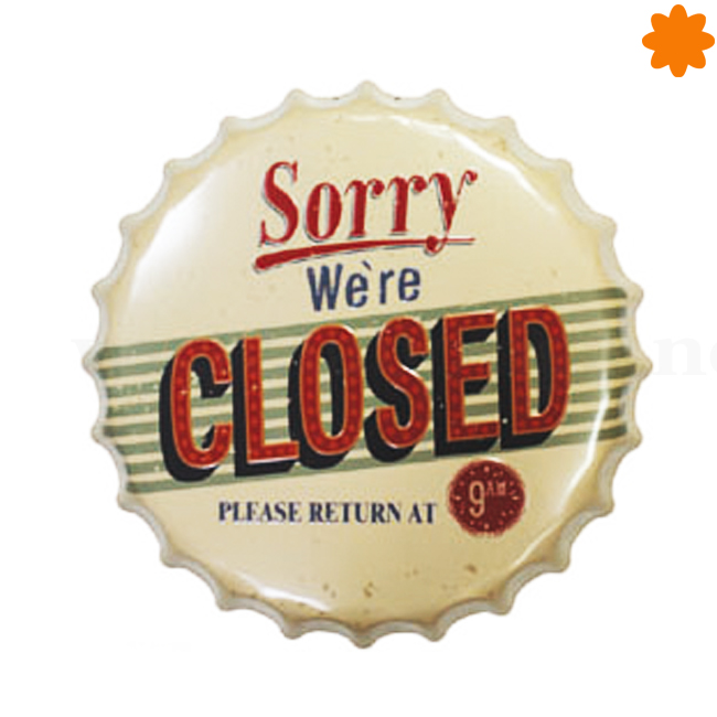 Cartel sorry we're closed