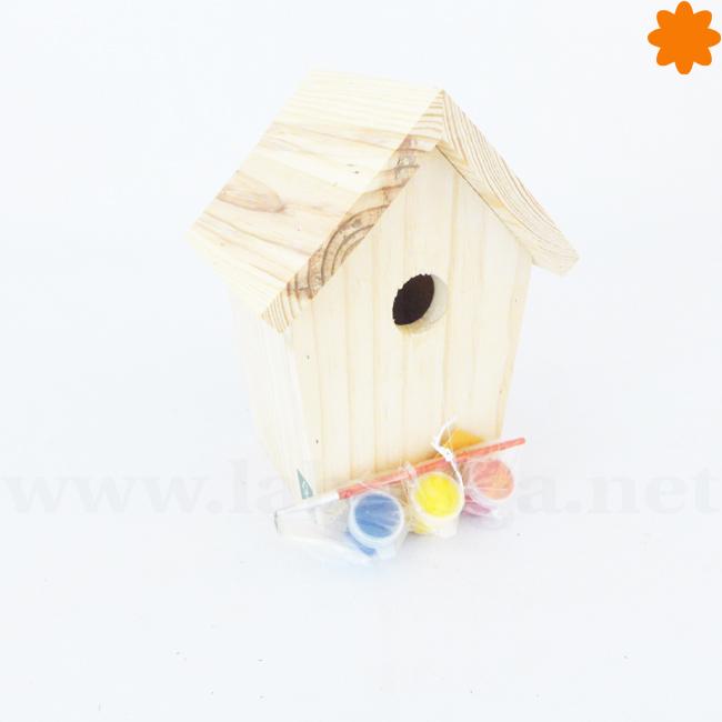 Casa de madera para pintar