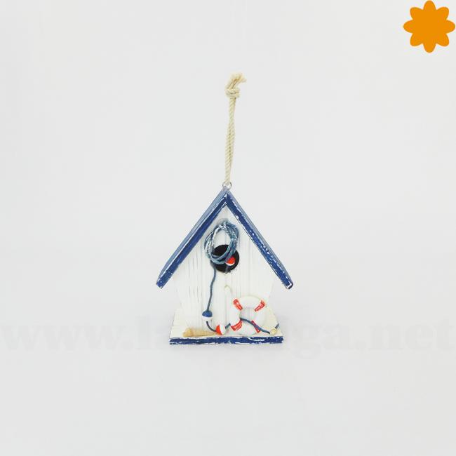 Casita para pájaros de madera