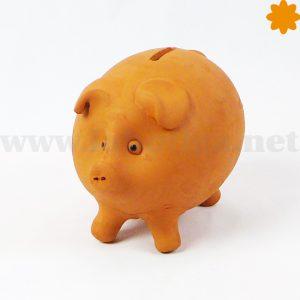 cerdito hucha de barro ideal para ahorrar monedas