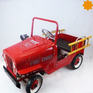 coche a pedales para del jefe de bomberos