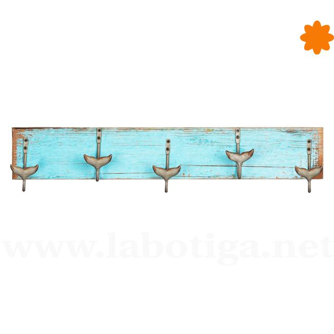 Colgador de ropa azul para la pared de estilo mar timo - Colgador de camisas ...