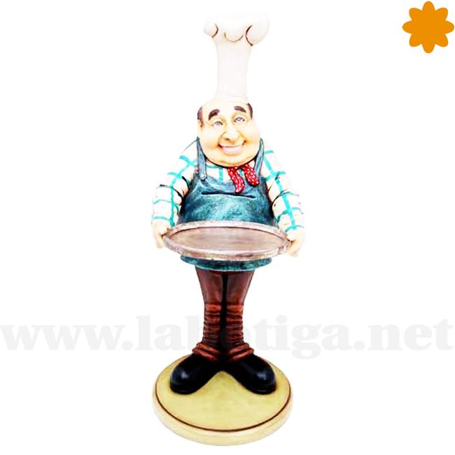 figura de mesonero con bandeja