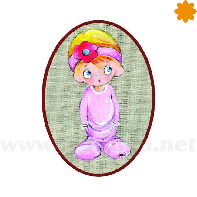 Divertido cartel de una niña con el pijama