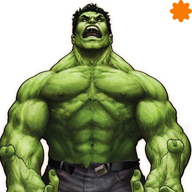 caganer de Hulk