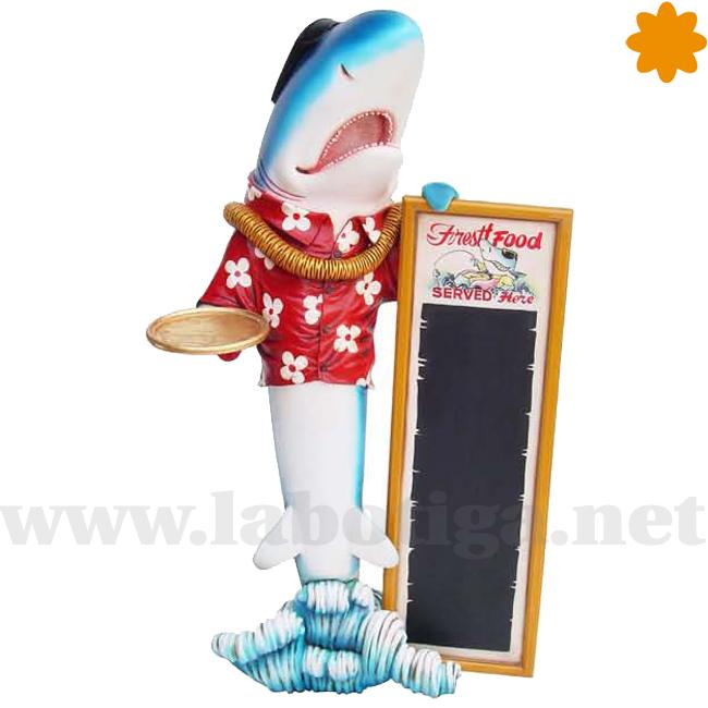 fantastico tiburon surfer hawaiano camarero de sushi