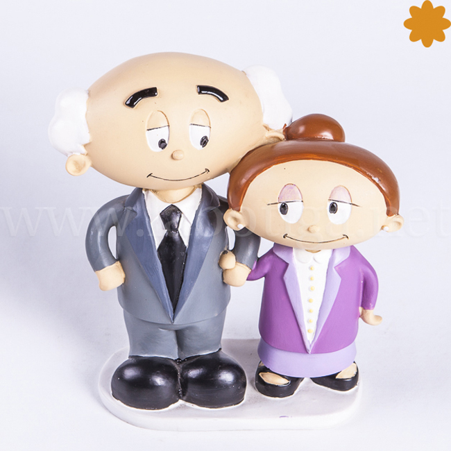 Figura de novios para las bodas de oro
