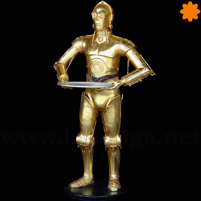 figura C3PO camarero con bandeja