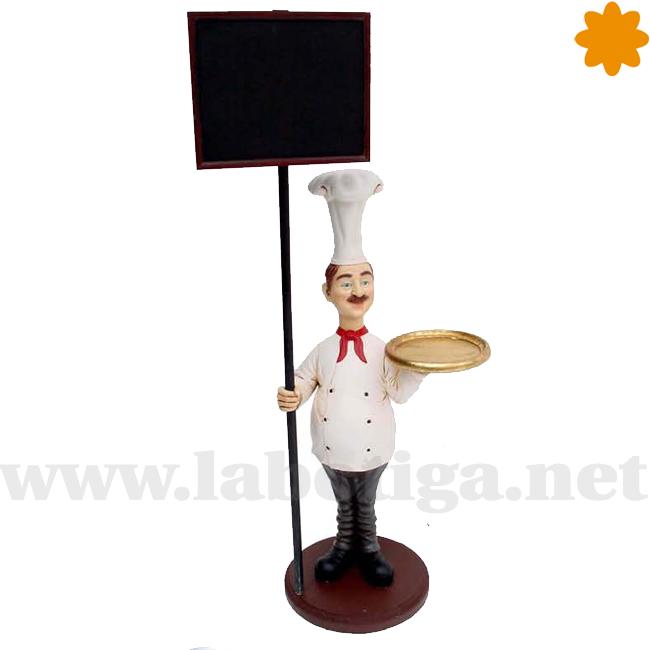 cocinero con pancarta bar de tapas