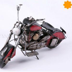 figura de metal moto harley davidson roja y negra buen regalo motero