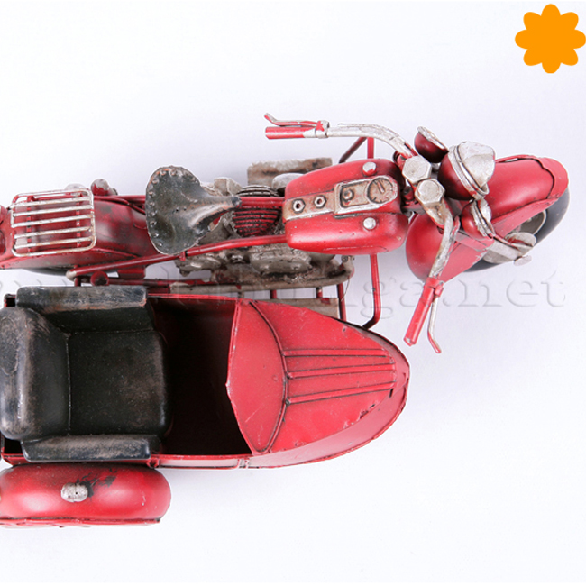 Figura de metal motocicleta sidecar