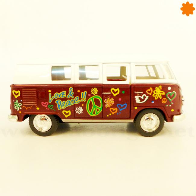 figura furgoneta hippie VW