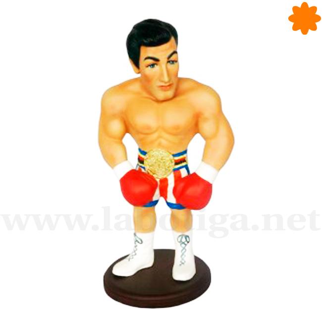 Figurita del boxeador Rocky Balboa de resina de poliéster