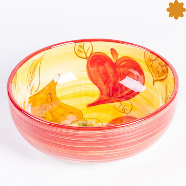 frutera de cerámica de la colección Hojas