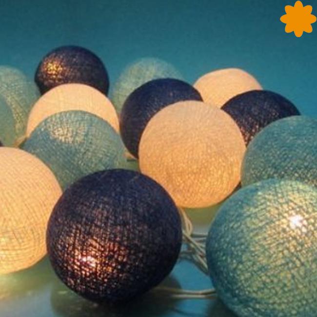 La guirnalda de bolas luminiscentes Océano