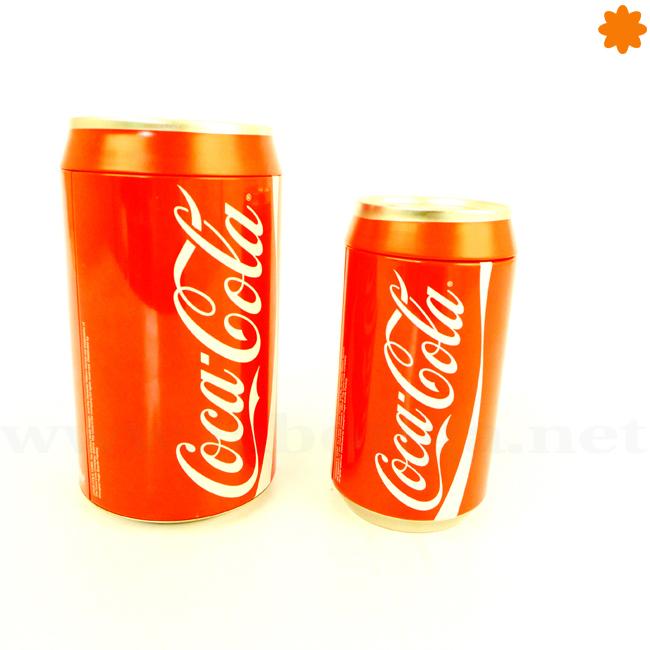 Hucha pequeña con forma de lata de Coca cola