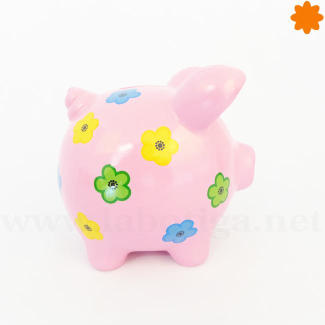 Hucha rosa con forma de cerdito para ahorrar dinero