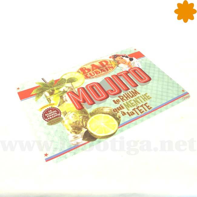 Mantel individual para tomar Mojitos Bar Cubain