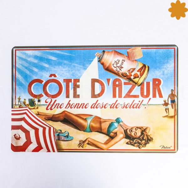individual para la mesa cote d azur chica pin up tomando el sol