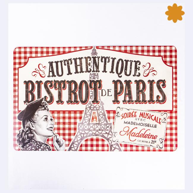 Mantel de mesa individual vintage Authentique Café Bistrot de París