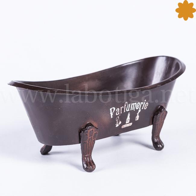 Jabonera bañera metal negro parfumerie